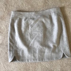J. Crew Wool Blend Skirttail Mini Skirt Cream Sz 8